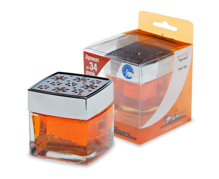 (доставка 2-3 часа)Ароматизатор банка Арктика кинг кар (оранжевый)