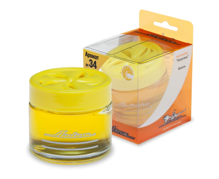 (доставка 2-3 часа)Ароматизатор банка Галактика ваниль (желтый цвет)