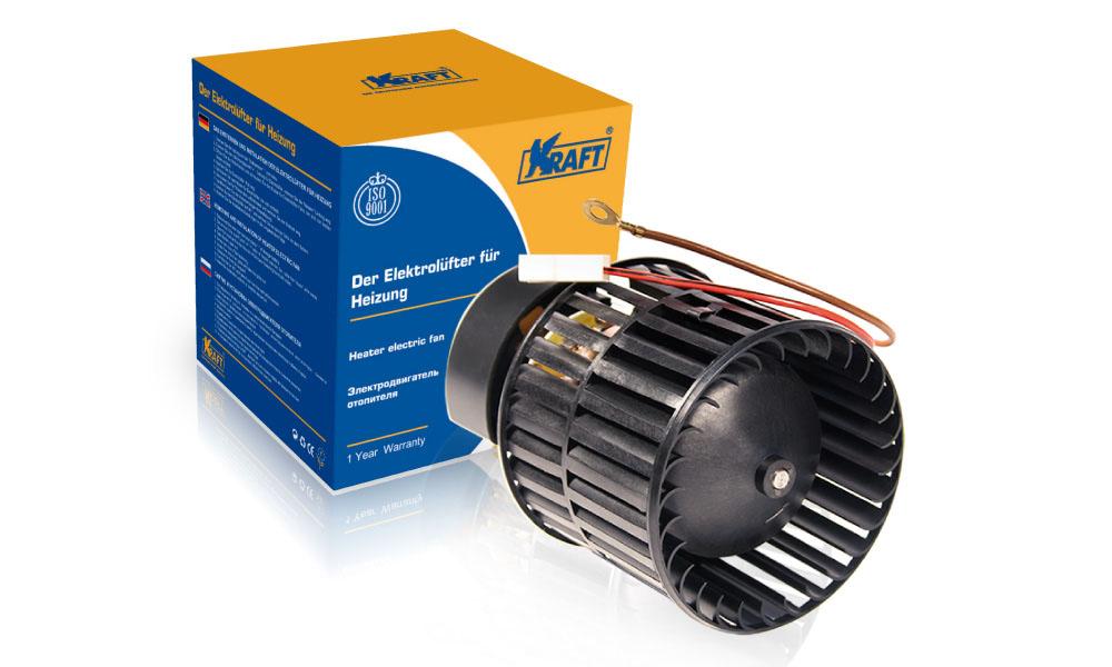 KT104502 KRAFT Мотор отопителя 2108, ИЖ-2126 (без кожуха) KRAFT