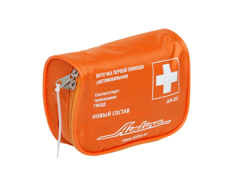 (доставка 2-3 часа)Аптечка автомобильная в текстильном футляре (Соответствует тр